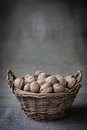 Basket With Nuts Stock Images - 60642964
