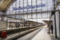 People Arriving Or Departing At The Frankfurt  Train Station Royalty Free Stock Images - 60650109