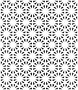 Vector Modern Seamless Sacred Geometry Pattern, Black And White Abstract Geometric Background Royalty Free Stock Photography - 60662457