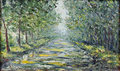 Road In The Summer Forest, Oil Painting Stock Image - 60668761