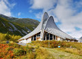 Visitor Centre Unique Building Norway Royalty Free Stock Photo - 60678495