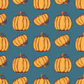 Vector Seamless Pattern With Pumpkins. Stock Image - 60681371