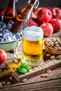 Cold And Fresh Apple Beer Stock Photo - 60683240