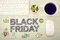 Black Friday Message With Workstation Stock Photography - 60684052
