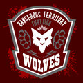 Wolves - Military Label, Badges And Design Royalty Free Stock Images - 60698959