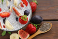Dessert Chia Seed Pudding With Berries And Fruits - Healthy Eating Royalty Free Stock Photography - 60703977