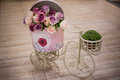 Rose Flower In The Basket Bicycle Stock Images - 60714954