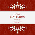 Vector Red Floral 3d Christmas Invitation Cards Background Stock Photos - 60745133