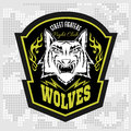 Wolves - Military Label, Badges And Design Royalty Free Stock Image - 60747476