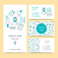 Set Of Flyer, Brochure And Business Cards For Dental Clinic. Dental Care. Set Of Promotional Products. Flat Design. Vector Royalty Free Stock Images - 60756609