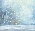 Winter Snowy Abstract Background Royalty Free Stock Photo - 60771985
