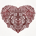 Lace Heart Vector Art. Stock Photos - 60789143