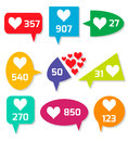 Notification Icons. Royalty Free Stock Photography - 60790957