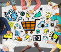 Online Marketing Strategy Branding Commerce Advertising Concept Stock Photography - 60794462