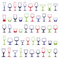 Classic Goblets Collection, Vector Martini, Wineglass, Cognac Stock Photo - 60850160