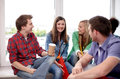 Group Of Happy High School Students Or Classmates Stock Photo - 60852680