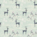 Seamless Pattern With Deer In Winter Forest Stock Image - 60864391