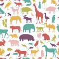 Animals Silhouette Seamless Pattern. Royalty Free Stock Image - 60869406