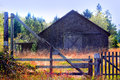 Unused Rustic Old Barn Royalty Free Stock Image - 60869636