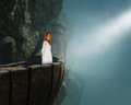 Beautiful Princess Maiden Medieval Castle Stock Photography - 60876652