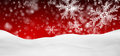 Abstract Red Background Panorama Winter Landscape With Falling Snowflakes Stock Photos - 60880393