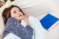 Woman Taking Power Nap After Lunch Royalty Free Stock Photography - 60880957