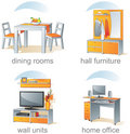 Icon Set, Home Furniture Items Royalty Free Stock Images - 6095829