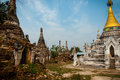 Several White And Gold Pagoda Site In Hsipaw Royalty Free Stock Images - 60900719