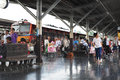 BANGKOK THAILAND - October 2015: Many People Travel By Train At Bangkok Railway Station (Hua Lamphong In Thai Language) Stock Images - 60902484
