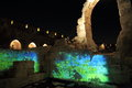 The Light Show At The Tower Of David Stock Photos - 60905323