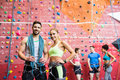 Fit People Getting Ready To Rock Climb Royalty Free Stock Photography - 60906557