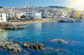 White Houses On Seaside. Coastal Town Calella De Palafrugell On The Costa Brava. Royalty Free Stock Photography - 60913297