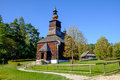 Old Traditional Slovak Wooden Church, Stara Lubovna, Slovakia Stock Images - 60915604