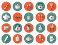 Kitchen Utensils And Cookware Flat Icons Set, Cooking Tools Royalty Free Stock Photo - 60948325