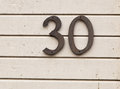 The Number Thirty Stock Photo - 60963260