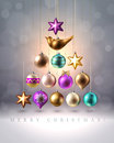 Christmas Decoration, Baubles, Balls, Bird And Star, Vector Royalty Free Stock Photo - 60965495