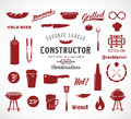 Sausage Vector Flat Icons And Typography Design Royalty Free Stock Photography - 60967937