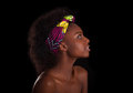 Young Beautiful African Woman Portrait, Isolated Over Black Back Royalty Free Stock Photos - 60975478