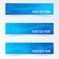Blue Banners With Brush Strokes Stock Photo - 60992010