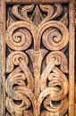 Wooden Detail Of The Medieval Norwegian Church In Heddal. Royalty Free Stock Photos - 61010668
