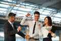 Business People Celebrate Successful Project. Team Work Royalty Free Stock Photos - 61019678