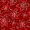 White And Red Big Flowers On A Red Background Vector Seamless Ab Stock Images - 61022714