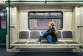 Alone In The Subway Stock Photos - 61023573
