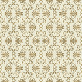 Vector Seamless Golden Flourish Pattern. Royalty Free Stock Photos - 61026608
