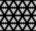 Vector Modern Seamless Sacred Geometry Pattern Hexagon, Black And White Abstract Stock Photo - 61026950