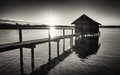 Old Wooden Boathouse Stock Photo - 61027210