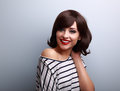 Happy Casual Relaxed Young Woman Looking With Happy Smiling Royalty Free Stock Image - 61034086