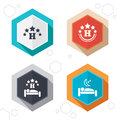 Five Stars Hotel Icons. Travel Rest Place Royalty Free Stock Photos - 61038528