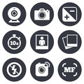 Photo, Video Icons. Camera, Photos And Frame Stock Photography - 61040852