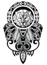 Tattoo Design With Lion Stock Images - 61058674